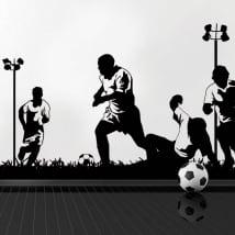 Vinyle et des autocollants joueurs de football