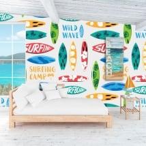 Peintures murales de vinyle décorer les murs et les objets surf