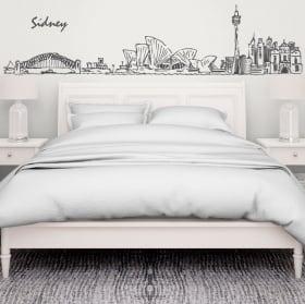 Vinyle décoratif sydney skyline australia