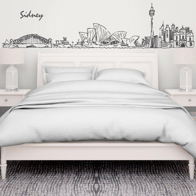 Vinyle décoratif skyline sydney australia