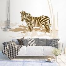 Vinyle décoratif et des autocollants zebra africa