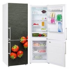 Vinyle fraises pour décorer les réfrigérateurs