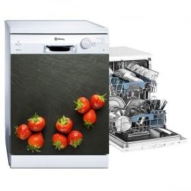 Vinyle adhésif vaisselle fraise éclabousser