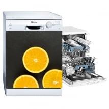 Vinyle décoratif pour lave-vaisselle oranges