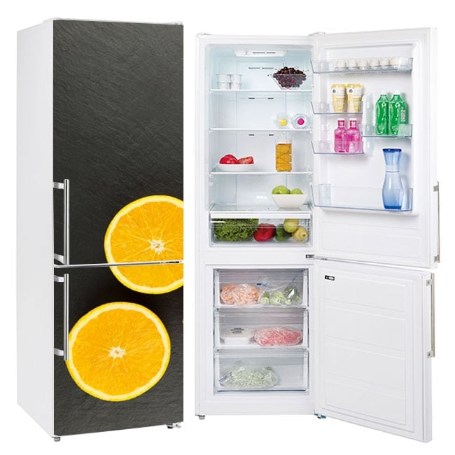 Vinyle oranges pour décorer les réfrigérateurs