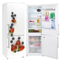 Vinyle décoratif fruits pour décorer les réfrigérateurs