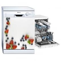 Vinyle décoratif fruits pour lave-vaisselle