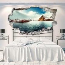 Vinyle décoratif îles lofoten norvège 3d