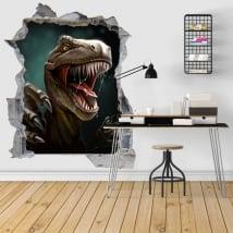 Autocollants décoratifs 3d illustration de dinosaure