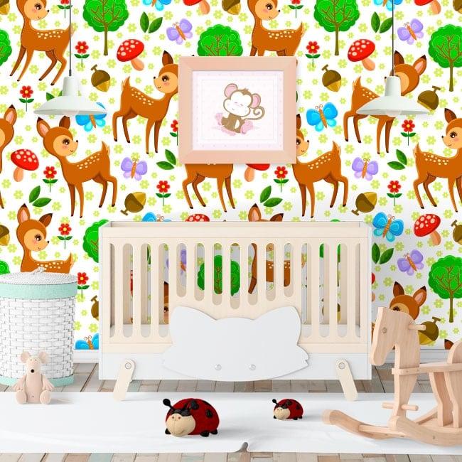 Murales de vinyle pour enfants bambi