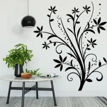 Vinyle décoratif des fleurs pour décorer les murs et les objets