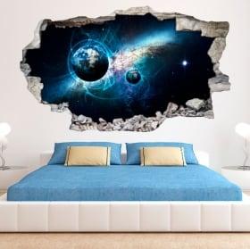 Vinyle décoratif et des autocollants 3d galaxie