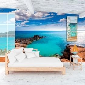 Murales plage est caló formentera les îles canaries