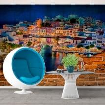 Murales grèce agios nikolaos creta island effet de mur brisé