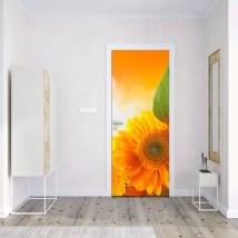 Vinyle pour portes et armoires tournesols