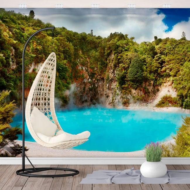 Murales cratère lac de l'enfer nouvelle zélande