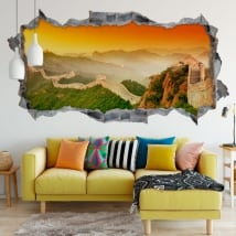Vinyle panoramique la grande muraille de chine 3d