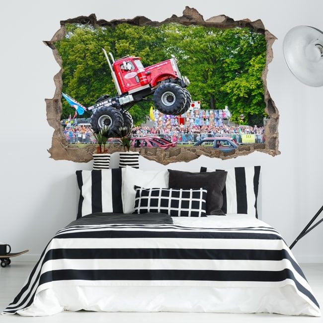 Vinyle les murs big pete monster truck 3d