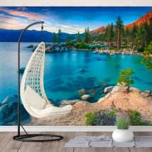 Murales de vinyle sand harbor lac tahoe sierra nevada