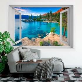 Vinyle des fenêtres sand harbor lac tahoe sierra nevada 3d