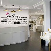 Vinyles pour décorer les salons de beauté
