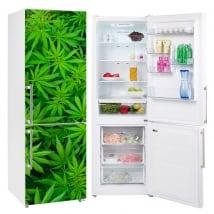 Autocollants décorer les réfrigérateurs plantes de marijuana