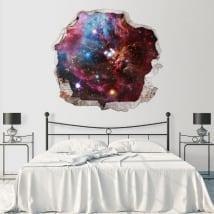 Vinyle décoratif les murs nébuleuse de l'espace 3d