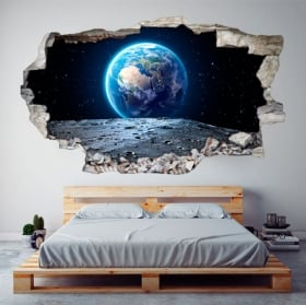 Vinyle décoratif planète terre 3d