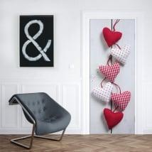 Vinyle pour portes et armoires les cœurs