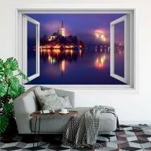 Vinyle décoratif des fenêtres la slovénie bled 3d