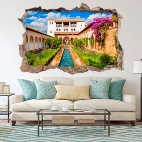 Vinyle décoratif l'alhambra le generalife 3d