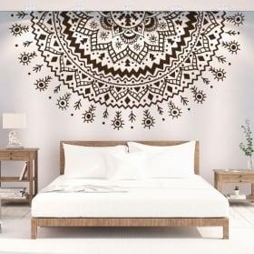 Vinyle décoratif demi mandala
