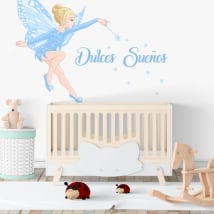Vinyle décoratif pour enfants fée magique