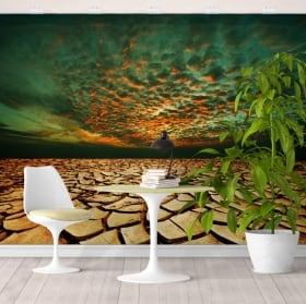 Peintures murales chutes d'eau dans la forêt