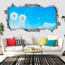 Vinyle décoratif fleurs de pissenlit 3d