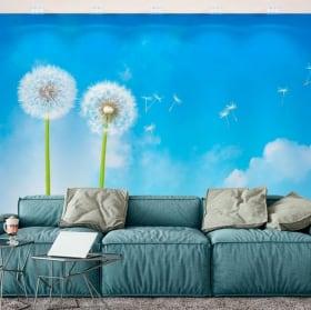 Murales de vinyle fleurs de pissenlit