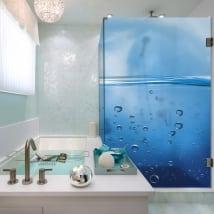 Vinyle écrans de bain des bulles dans l'eau