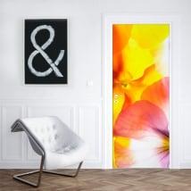 Vinyle décoratif fleurs pour décorer les portes et les armoires