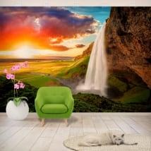 Murales de vinyle cascade de seljalandsfoss islande