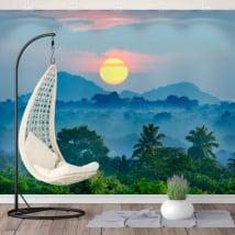 Murales de vinyle coucher de soleil nature sri lanka