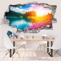 Vinyle décoratif lac champfèr la suisse 3d
