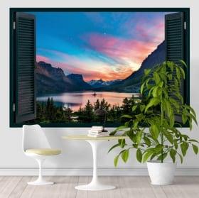 Vinyle fenêtre lac saint mary états-unis 3d
