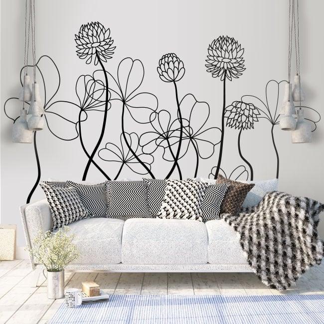 Vinyle décoratif et des autocollants fleurs à décorer