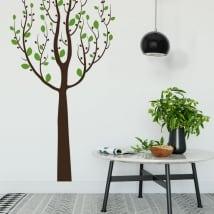 Autocollants en vinyle arbre avec des feuilles