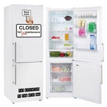 Vinyle réfrigérateurs phrase fermée pour l'entretien