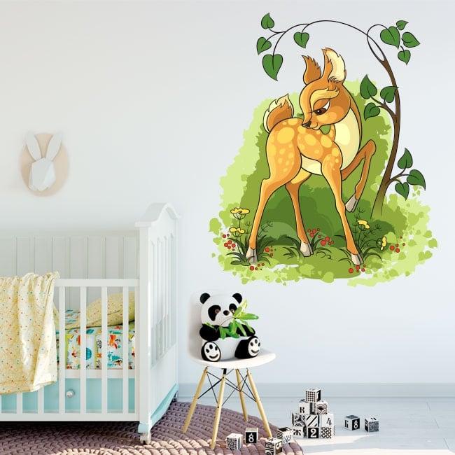 Vinyle décoratif enfants bambi