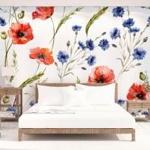 Papiers peints fleurs à décorer