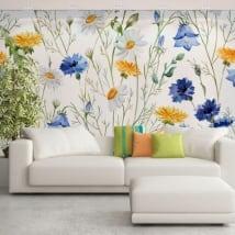 Murales de vinyle fleurs à décorer