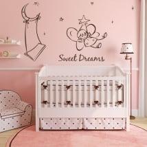 Vinyle décoratif pour enfants ange doux rêves
