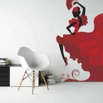 Vinyle décoratif silhouette de danseuse de flamenco